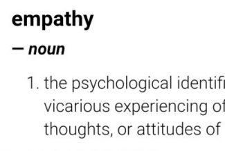 Self Analysis Leads to Empathy