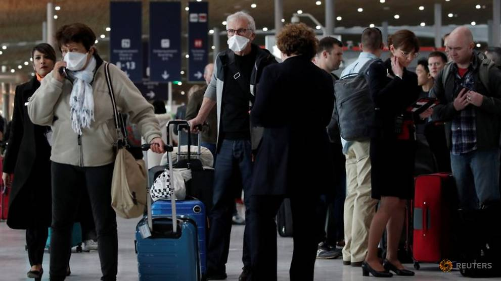 Trump caused pandemonium with his pandemic travel ban. People suddenly flocked to the airports, having heard Trump's false announcement about flight cancellations, thinking that they might not be let home.